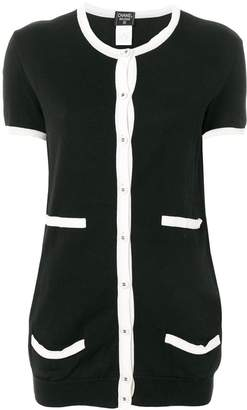 Chanel Pre-Owned elongated buttoned knitted blouse