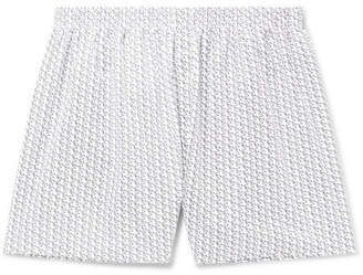 Sunspel Printed Cotton Boxer Shorts - Men - White