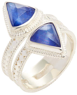 Anna Beck Jewelry Double Triangle Band Lapis Triplet Trend Ring