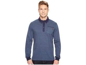 U.S. Polo Assn. Classic Fit Striped Long Sleeve Pique Polo Shirt Men's Long Sleeve Pullover