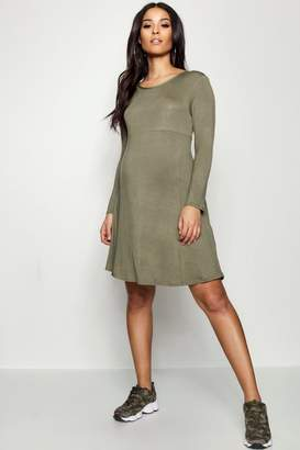 boohoo Maternity Long Sleeve Smock Dress