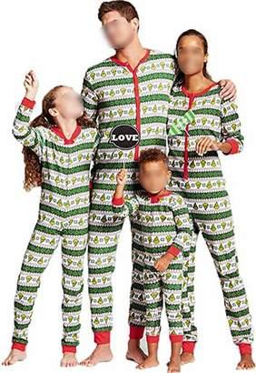 TUSFTAY Christmas Onesie Family Matching Jumpsuit Pajamas Stripe Xmas  Sleepwear 3e1ac7ddc