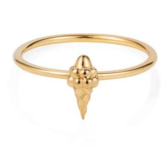 Lee Renee Tiny Ice Cream Ring Gold Vermeil