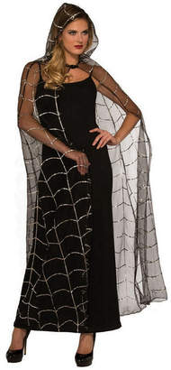 BuySeasons Women Hooded Webbed Cape Adult Costume