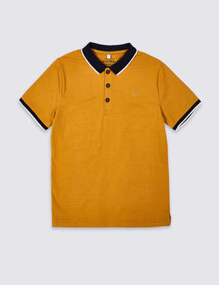 Marks and Spencer Cotton Polo Shirt with Stretch (3-16 Years)