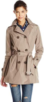 Celebrity Pink Celebritypink CelebrityPink Women's Hooded Junior Trench Coat