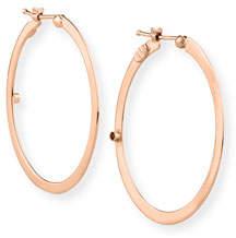 Roberto Coin Flat 18k Rose Gold Hoop Earrings