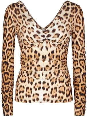 Roberto Cavalli Leopard Print Top