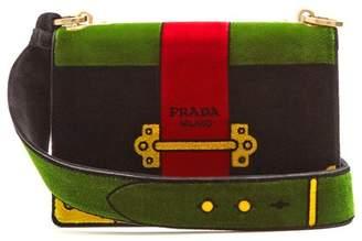 Prada Cartoon velvet cross-body bag
