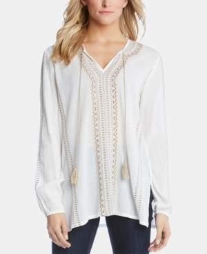 Karen Kane Cotton Embroidered Tunic