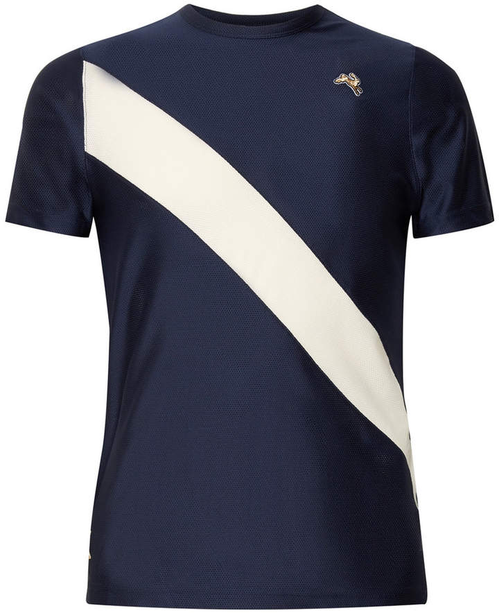 Tracksmith Van Cortlandt Striped Stretch-Mesh T-Shirt