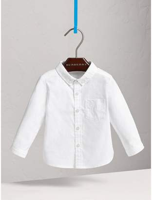 Burberry Childrens Button-down Collar Cotton Oxford Shirt