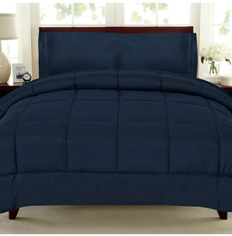 Sweet Home Collection Solid Color Box Stitch Down Alternative Full Comforter