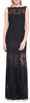 Tadashi Shoji Lace-Trimmed Sleeveless Mermaid Gown $439 thestylecure.com