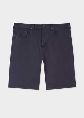 Paul Smith Men's Navy Garment-Dyed Denim Shorts