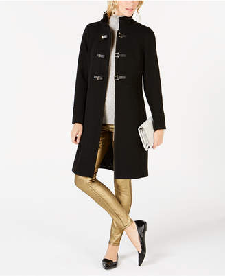 Cole Haan Faux-Leather Toggle Walker Coat