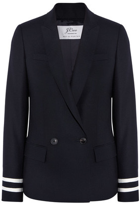 J.Crew - Comero Striped Wool-piqué Blazer - Navy $325 thestylecure.com