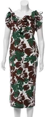 Rosie Assoulin Floral Print Maxi Dress w/ Tags