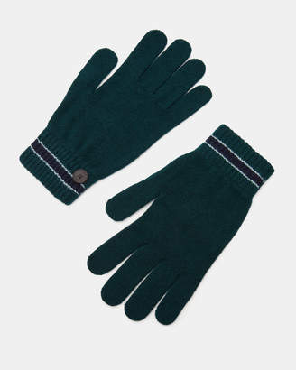 Ted Baker PAIRS Stripe cuff knitted gloves