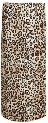 Raey Leopard Print Silk Pencil Skirt - Womens - Leopard