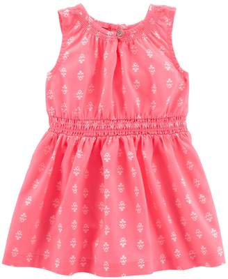 Carter's Baby Girl Tribal Smocked Dress