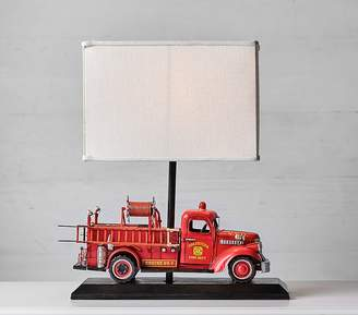 At Pottery Barn Kids Firetruck Complete Lamp