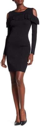 Fate Cold Shoulder Ruffle Dress