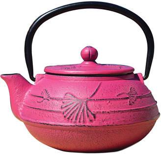 Old Dutch 22Oz Fuchsia Cast Iron Ginkgo Teapot