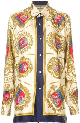 Hermes Pre-Owned printed oversize shirt