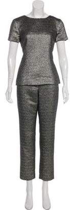 Chanel Metallic Mid-Rise Pant Set