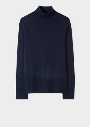 Paul Smith Men's Dark Navy Cashmere Funnel Neck Sweater