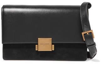 Saint Laurent Bellechasse Medium Textured-leather And Suede Shoulder Bag - Black