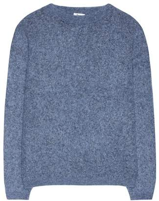 Dramatic mohair and wool-blend sweater