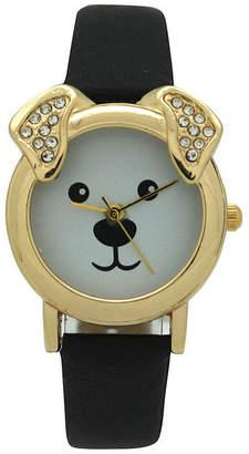 OLIVIA PRATT Olivia Pratt Dog Unisex Pink Strap Watch-H10046black