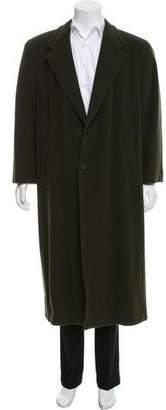Giorgio Armani Notch-Lapel Virgin Wool Coat