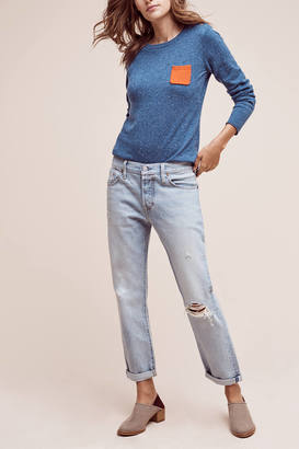 Levi's 501 CT High-Rise Straight Jeans $168 thestylecure.com