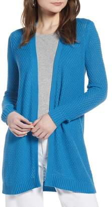 Halogen Textured Cotton Knit Cardigan (Regular & Petite)