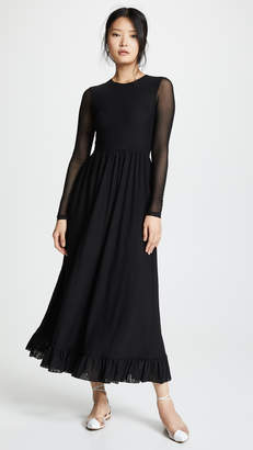 Ganni Dot Mesh Dress