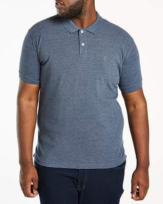 Jacamo Denim Short Sleeve Embroid Polo