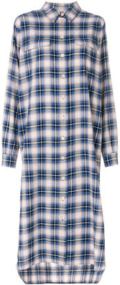 Alberta Ferretti checked shirt dress