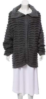 Maison Margiela Gathered Mohair-Blend Cardigan