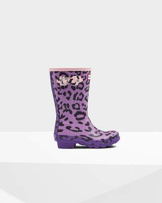 Hunter Kids Leopard Print Rain Boots