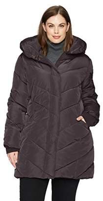 Steve Madden Women's Plus Size Long Outerwear Jacket,2X