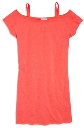 Splendid Girls' Off-the-Shoulder Shirt Dress - Big Kid