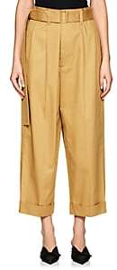 Marc Jacobs WOMEN'S COTTON WIDE-LEG TROUSERS-BEIGE, KHAKI SIZE 0