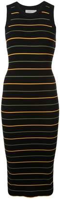 A.L.C. striped ribbed knit dress