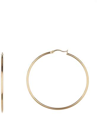Argentovivo 18K Gold Plated Sterling Silver Thin Hoop Earrings
