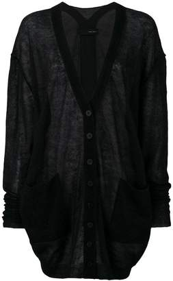 Isabel Benenato oversized lightweight cardigan