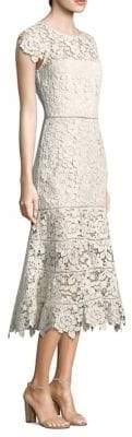 Joie Caledonia Floral Lace Midi Dress