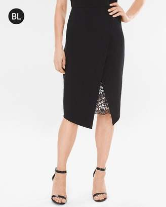 Black Label Lace Inset Skirt